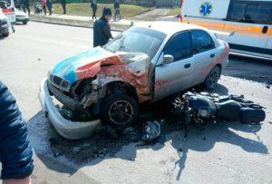 фото аварии ланос